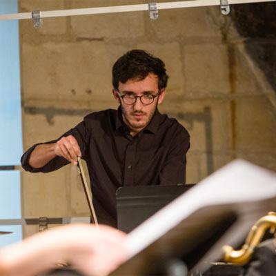 Lucas Genas percussion © Agathe Poupeney