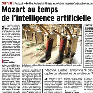 Mozart au temps de l'intelligence artificielle